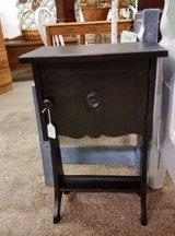Vintage pipe stand table in Fort Campbell, Kentucky