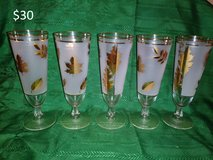 Frosted Gold Leaf Glasses in Yucca Valley, California