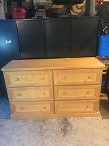 "Dresser Natural Maple Wood 58"" (W) x 36"" (H) x 18"" (D) in Bolingbrook, Illinois"
