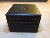 BLACK OTTOMAN WITH STORAGE ( HAS LEGS) in Tinley Park, Illinois