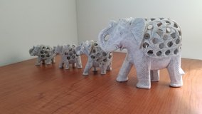 Carved Soapstone Elephants in Hampton, Virginia