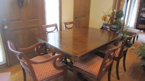 Antique Dining Table and Six Chairs in Naperville, Illinois