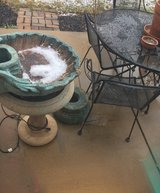 Oyster Shell Concrete Birdbath in Oswego, Illinois