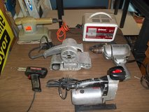ASSORTMENT OF ELECTRIC TOOLS   SOLD AS A LOT  ALL WORK GREAT  OR SEPERATE in Byron, Georgia