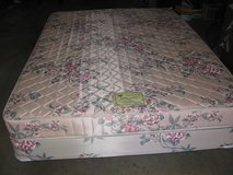 Queen Bed/Boxspring/Frame in Camp Pendleton, California