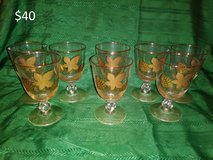 Gold leaf glasses in Yucca Valley, California