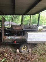 BBQ pit on trailer in Cleveland, Texas
