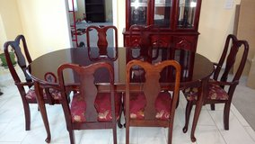 Table and chairs with matching Hutch in Fort Campbell, Kentucky