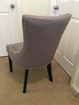 (New)never been used Gray nail head chair in Fort Benning, Georgia