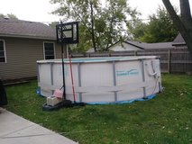16ft round by 4ft deep pool in Joliet, Illinois