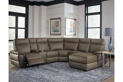 (@@) NEW! UPSCALE LUXURIOUS POWER LEATHER SOFA CHAISE SECTIONAL in Camp Pendleton, California