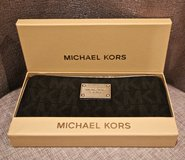 *REDUCED* MICHAEL KORS Large Black Specchio Jet Set Wallet in Okinawa, Japan