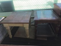 Two different end tables 5 dollars each in 29 Palms, California