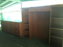 Office hutch  , entertainment center all drawers have locks two-piece in 29 Palms, California
