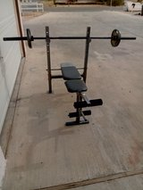 Bench With Bar & Weights in 29 Palms, California