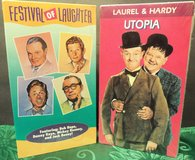 Slapstick Comedy Movies VHS Festival of Laughter Utopia Bob Hope Laurel & Hardy in Orland Park, Illinois