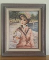 Two Vintage Huldah Prints In Central Park and May Bud in Glass Frames in Yucca Valley, California