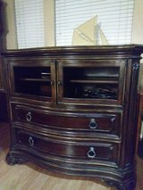 ***SOLID WOOD DRESSER WITH GLASS DOORS *** in Kingwood, Texas