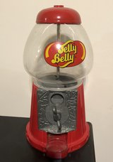 """11"""" Jelly Belly Diecast Bean Machine Dispenser Glass Dome Coin Operated in Joliet, Illinois"""