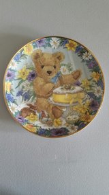 "Porcelain Bear Plates 8"" Designed by Sarah Bengry (Six Plates) in Yucca Valley, California"
