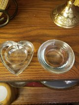 2 GLASS CANDLEHOLDERS in Clarksville, Tennessee