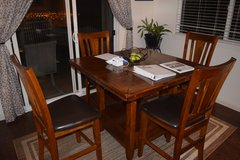 5 PCS SOLID WOOD DINING SET/W EXTENDING UNDERCARRIAGE in Schofield Barracks, Hawaii