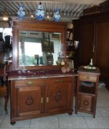 antique dresser with matching night stand in Spangdahlem, Germany