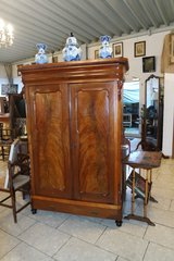 antique walnut wood armoire - cabinet with shelves in Spangdahlem, Germany
