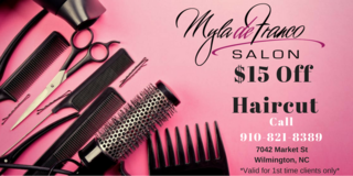 $15 Off Haircut in Wilmington, North Carolina