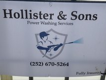 Hollister & sons power washing in Cherry Point, North Carolina
