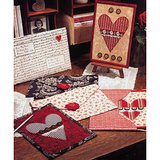 Valentine Card & Envelope DIY - Quilt Pattern From a Magazine in Naperville, Illinois