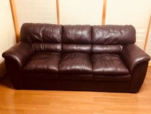 Brown Leather Couch! in Okinawa, Japan