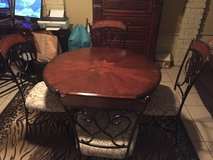 """42"""" Round Ashley furniture dining set with 4 chairs in Cleveland, Texas"""