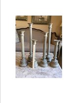 Set of 6 heavy metal iron candle sticks in Orland Park, Illinois
