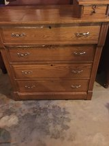 Old solid oak dresser in Fort Campbell, Kentucky