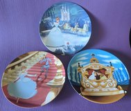 Cinderella collectors plates.  Set of three from 1992. Licensed Disney in Travis AFB, California