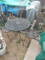 table and two chairs in Lawton, Oklahoma
