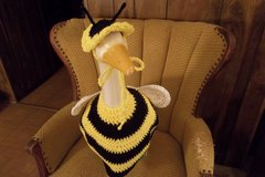 Bee Geese Goose Outfit Crochet Lawn Goose Clothes in Belleville, Illinois