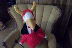 Devil Geese Goose Dress Crochet Outdoor Lawn Goose Clothes in Belleville, Illinois