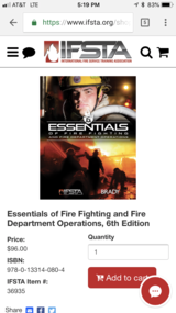 Essentials of Firefighting 6th edition in Camp Lejeune, North Carolina