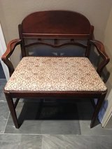 Antique bench in Conroe, Texas