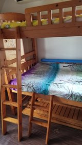 "Japanese Bunk (Trundle) bed. ""Three beds"" in Okinawa, Japan"