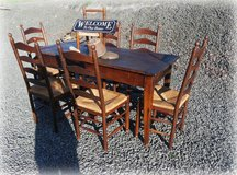 rustic dining room set with 6 chairs in Spangdahlem, Germany