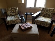 Mission Chairs & Ottoman in Oswego, Illinois