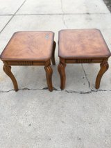 2 wood end tables in Oswego, Illinois