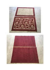 Red Rugs Set in Fort Bliss, Texas