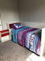 Twin size bedframe with storage and mattress included in Fort Lewis, Washington