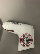 Bulldog putter cover in Okinawa, Japan