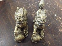 """Chinese lion figurines, 6"""" long in Kingwood, Texas"""