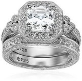 SALE TODAY ONLY***BRAND NEW***POSITIVELY GORGEOUS Platinum Sterling Silver Asscher-Cut Zirconia ... in Kingwood, Texas